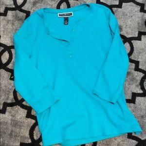 Karen Scott 3/4 sleeve shirt